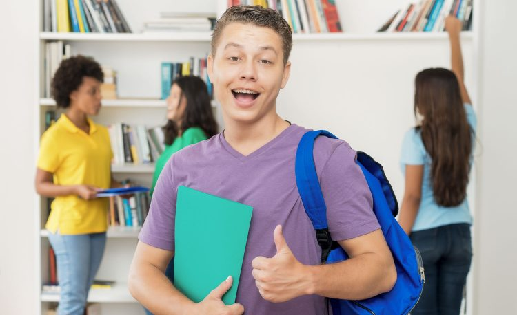 summer junior English course student gives a thumbs-up