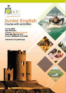 Brochure Cover of Summer Junior English Course Clare